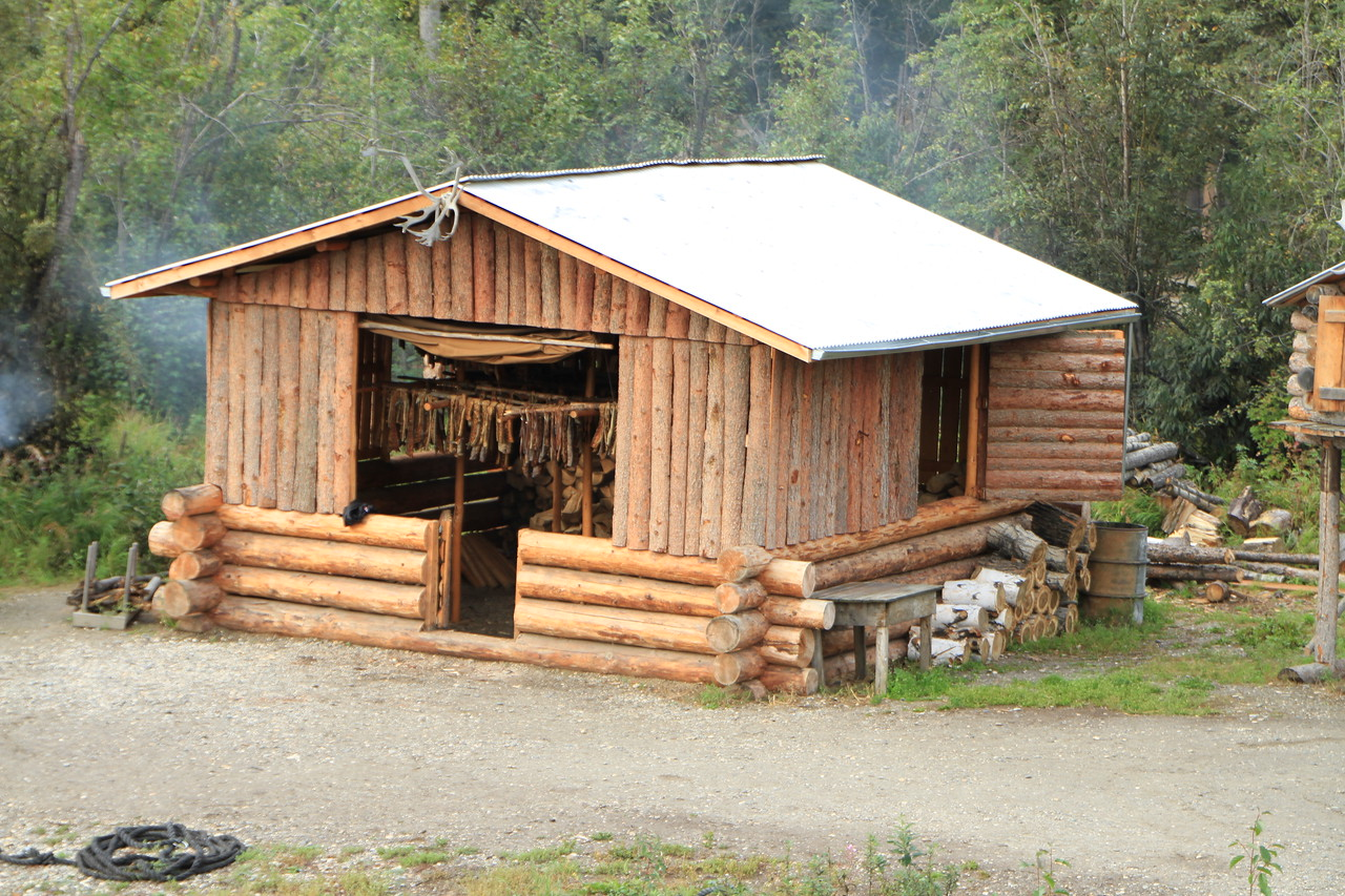 Due to the extreme remoteness of much of Alaska, age old pratcices are still used today in some areas.  Here is a structure used for drying and smoking fish and other game.