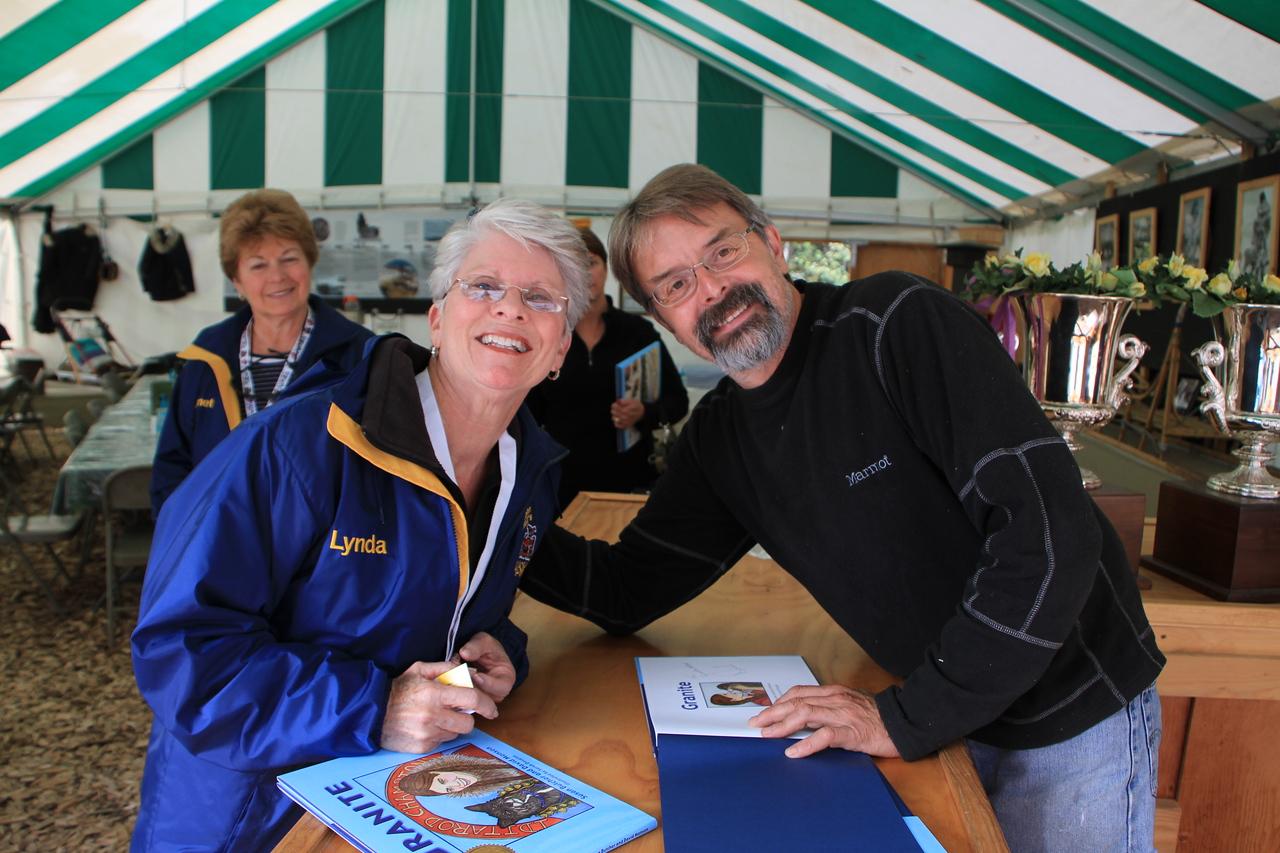 Lynda with David Monson, the husband of the later Iditarod Champion Susan Butcher.  David is also a champion Musher himself.