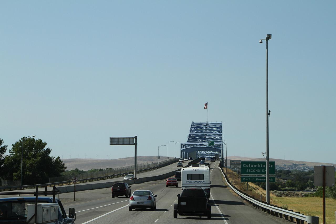 Heading across the Columbia River to Washington State.