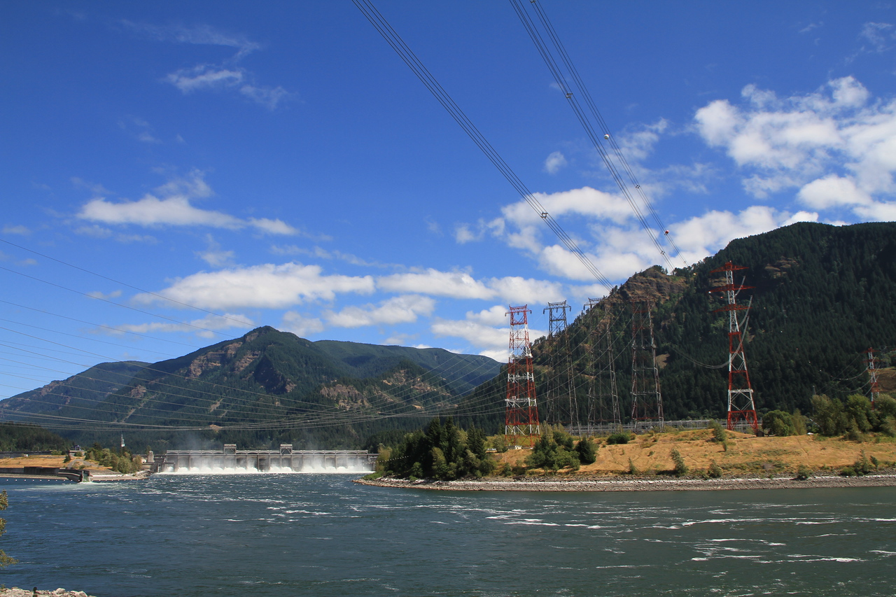 The rivers currents also provide hydro-electric power to the surrounding areas.