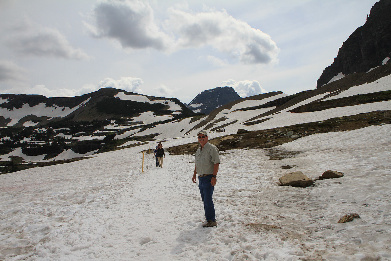 Remember, glaciers are made up of a combination of snow and ice.  Key is I am still upright :)