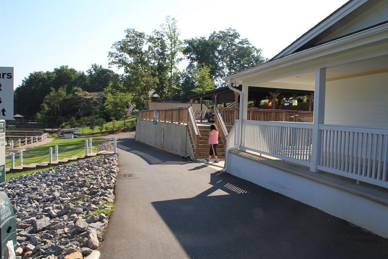 Bar & Grill at the resort, by the small marina.