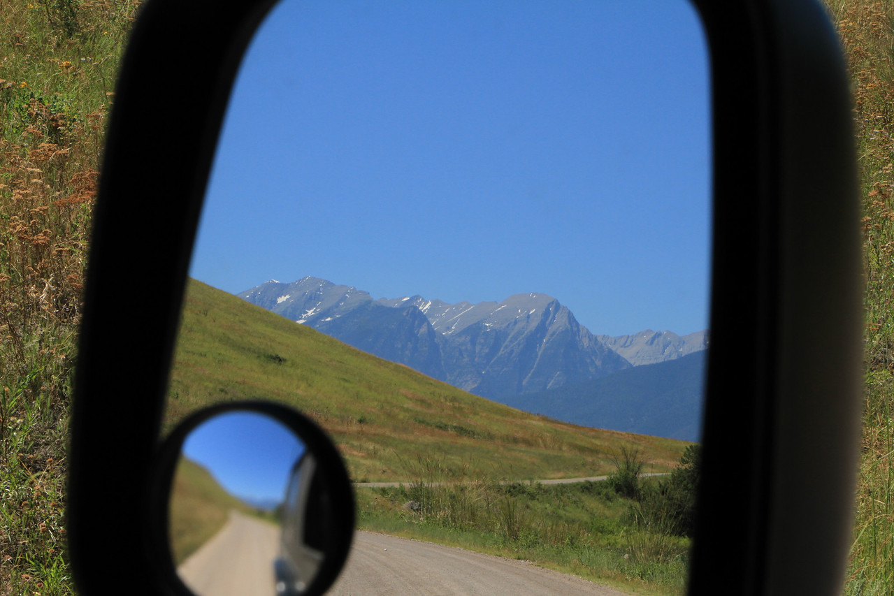 Not only a great vew out the windshield, but a great view in the rear.