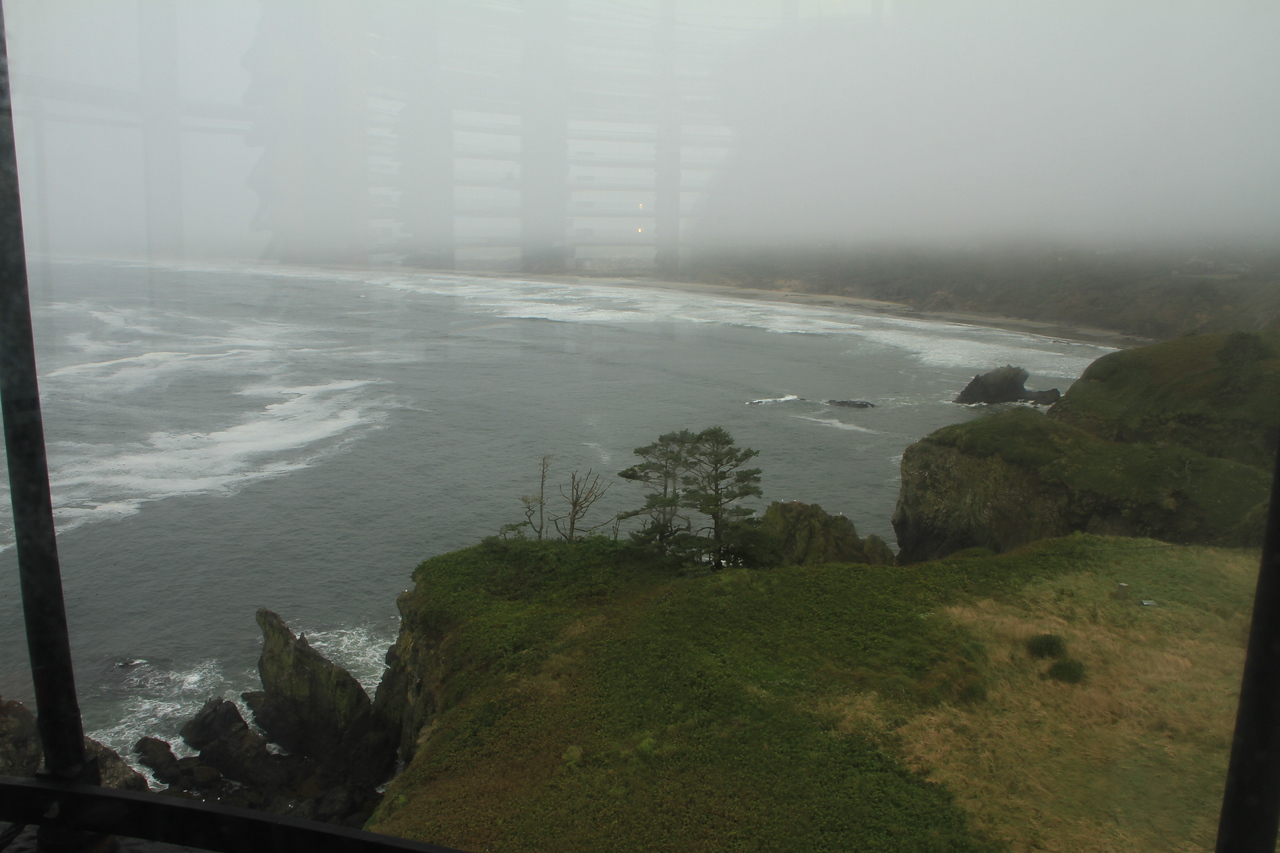 View from atop the lighthouse.