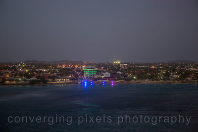 Aruba at dusk.
