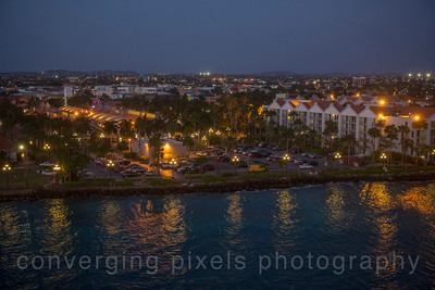 Aruba at night.