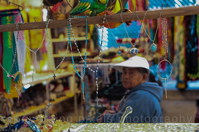 Vendors sell their handcrafted artwork; much of it very nice.