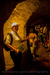 Taking a tour of the tunnels of the Old Fortress.