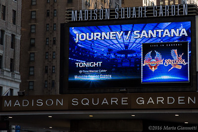 Journey in Madison Square Garden New York City, NY.