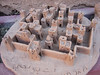 Clay model of a ksar or fortified village built of mud-brick (pise) and containing smaller fortified houses ( kasba). Each kasha housed an extended family.