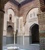 Courtyard of El-Attarine Medersa, Fez.