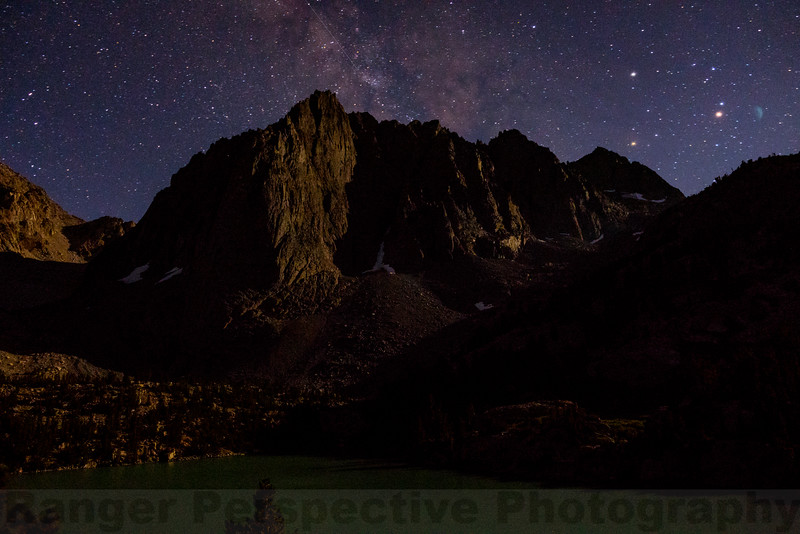 Milky Way above Third Lake and Temple Crag