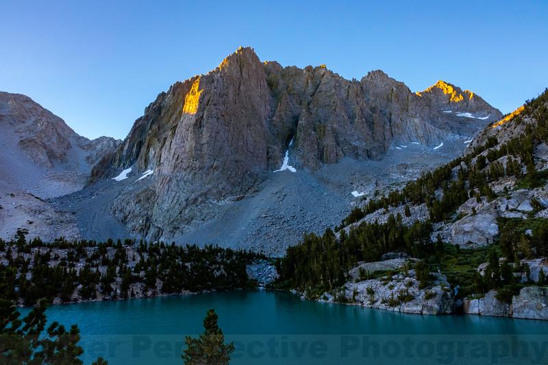 Morning at Third Lake and Temple Crag