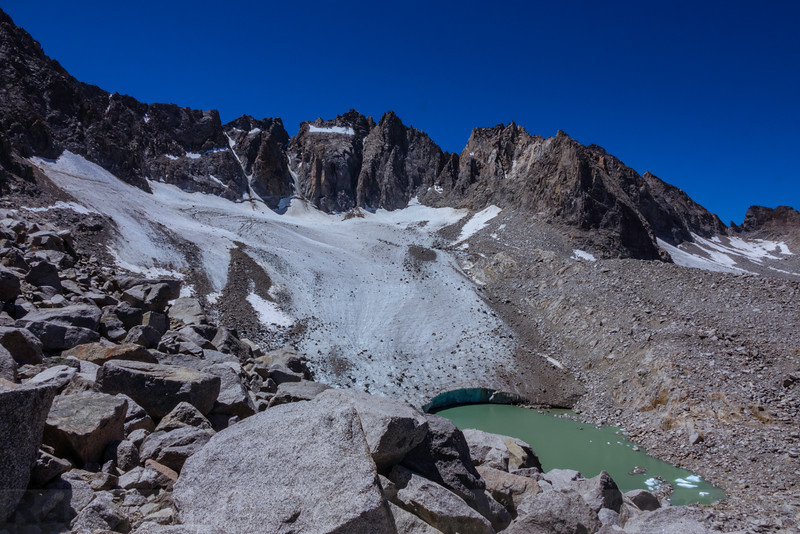 First View of Palisade Glacier and North Palisade-14,242 ft tall