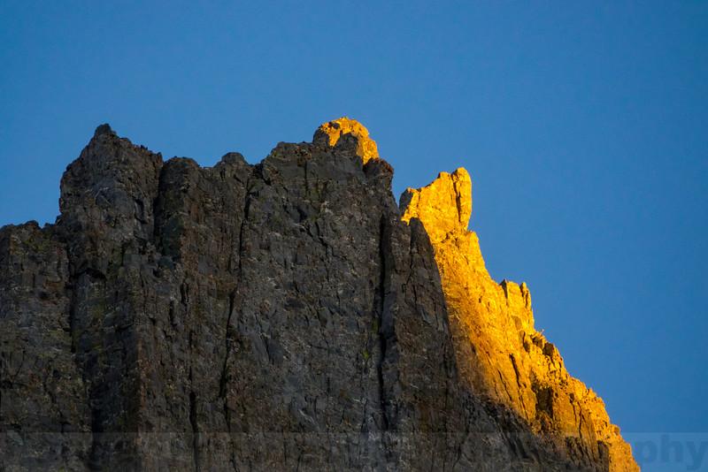 Last Light on Temple Crag