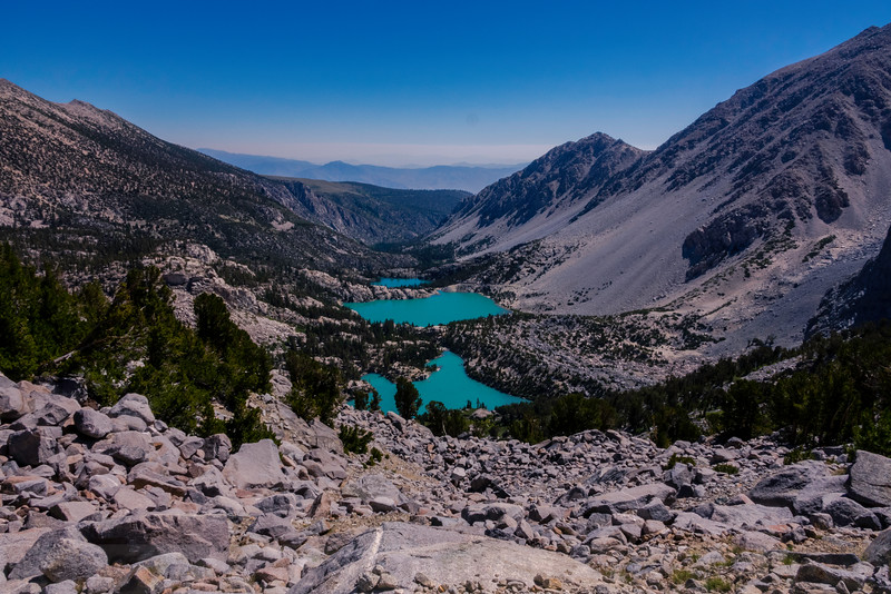 Another view of Third, Second and First Lakes from Glacier Trail