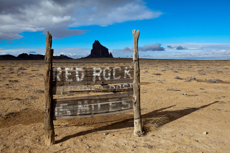 Red Rock Trading Post Sign & Shiprock NM_9425