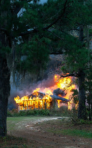 Home Fully Engulfed in Flames South of Tuskegee AL_7885