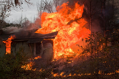 Home Fully Engulfed in Flames South of Tuskegee AL_7882