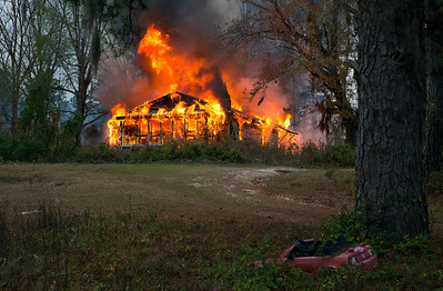 Home Fully Engulfed in Flames South of Tuskegee AL_7889