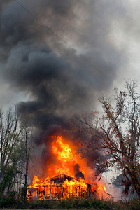 Home Fully Engulfed in Flames South of Tuskegee AL_7891