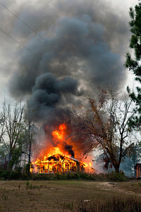 Home Fully Engulfed in Flames South of Tuskegee AL_7893