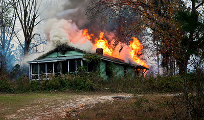 Home Fully Engulfed in Flames South of Tuskegee AL_7877