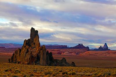 Rock Formations Late Afternoon Outside Kayenta AZ_9452