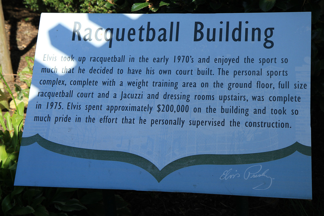 The Racquetball Building has been turned into a building housing a lot of his awards and trophy's.