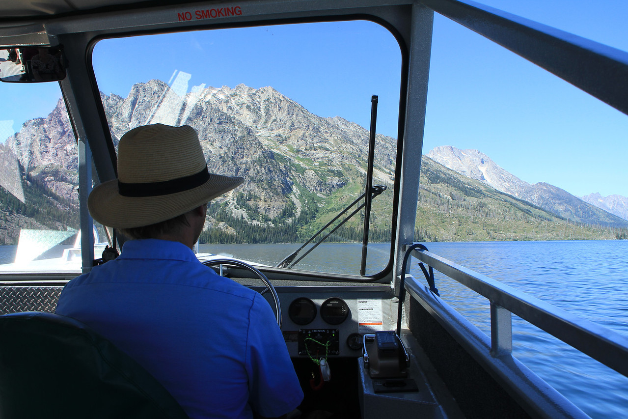 Boat tour across Jenny Lake to the base of the Teton's.