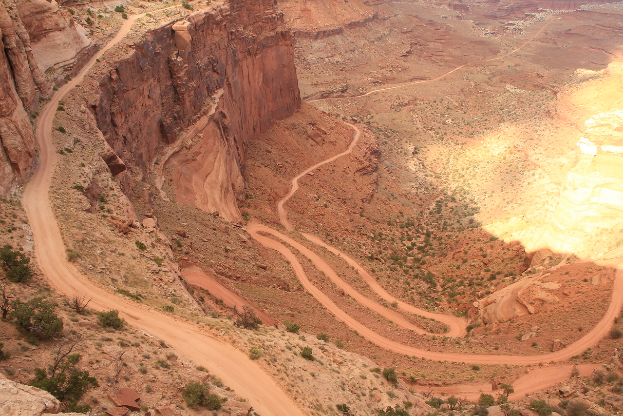 One of the may 4wheel drive trails in Moab.