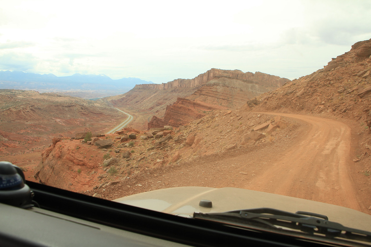 That is another trail leading out into the canyons on the left, but we are heading up and over to the right.