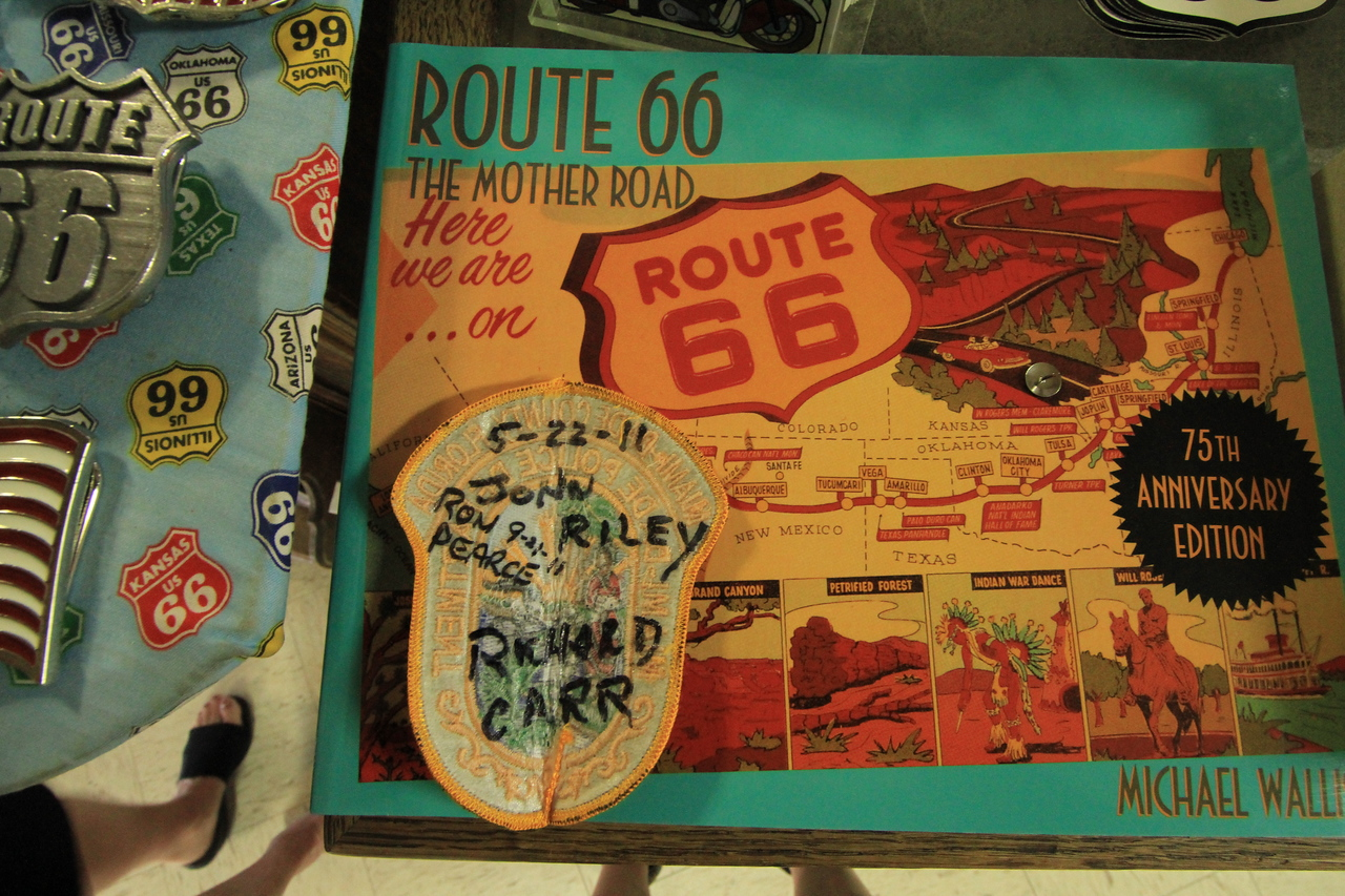 """The """"boys"""" out on the road.........  The """"mother road"""" that is.....  Route 66.......  Seligman, AZ."""