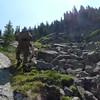 Climbing up to Martin Lake