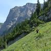 Hiking up to Martin Lake