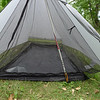 This is very much a one person shelter.  I could see fitting two people in here, but it needs to be two people that are comfortable with being VERY close to one another.  I don't see how two people could actually sleep a night in it, as any movement would pretty much roll you through the netting in that situation.<br /> <br /> For one, it's very nice.  Plenty roomy for yourself, your sleeping gear, and any few other items such as a jacket and water or snacks you want to keep in the tent with you.  It sets up using a trekking pole, which is plenty handy for me as I almost never hike without at least one any more.