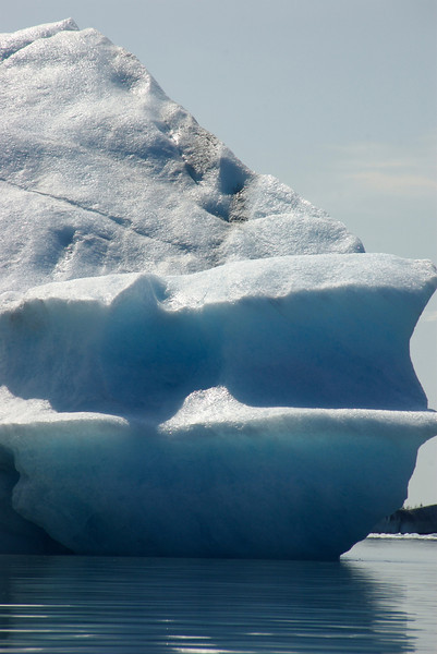 Some of the icebergs were huge (at least, compared to us).