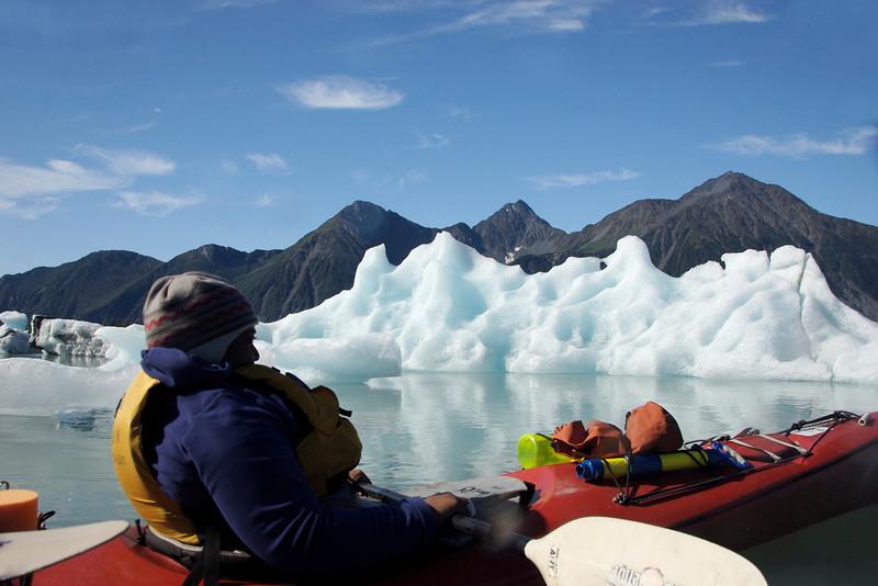 Kayaking with icebergs!