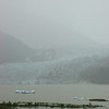 Mendenhall Glacier. It was a very rainy, misty day. Seeing the glacier was amazing anyway!