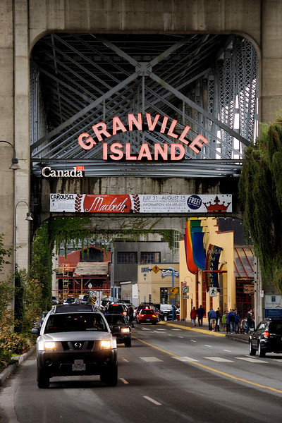 Granville Island is the home to a very cool, very large indoor market. Some pretty good bars, too ;-)