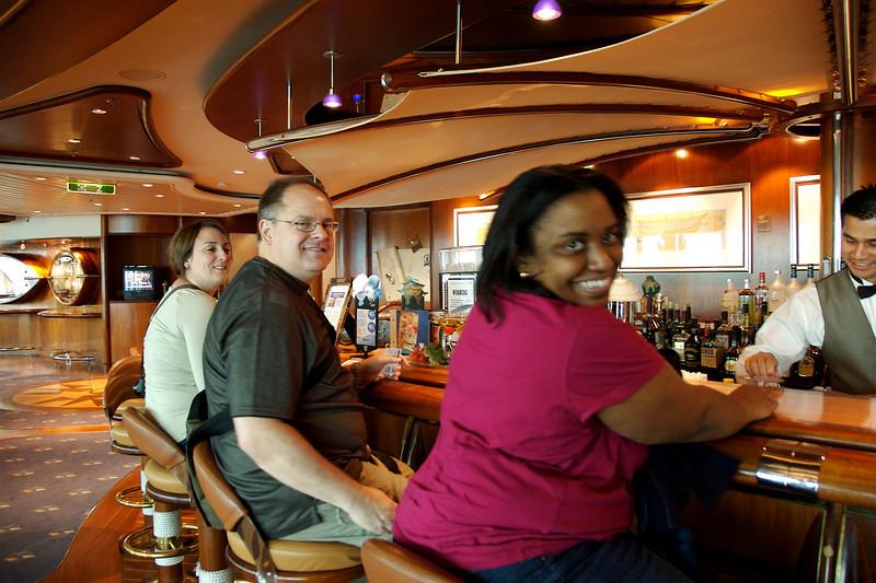 In the Schooner Bar (our favorite hangout).