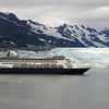 A Holland America cruise ship, which entered the area just as we were leaving, in front of Randall Glacier.