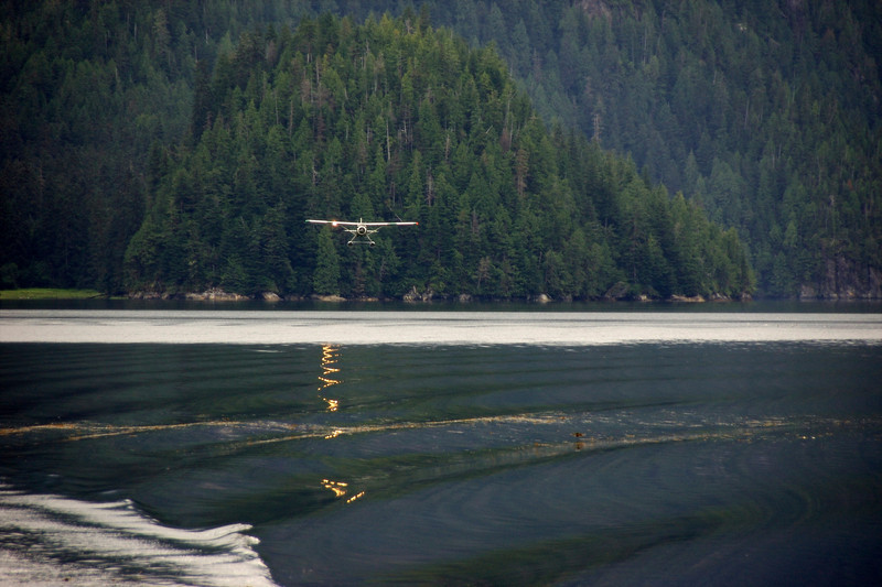 Float plane coming in ...