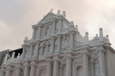 While others were grand, such as this full-size replica of the facade of St Paul's cathedral in Macau