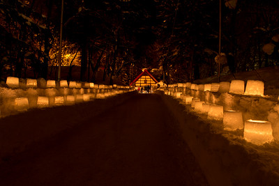 The Japanese love festivals, so winter gave a perfect opportunity to take advantage of ice, snow, and darkness