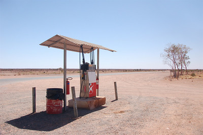 The gas pump at Mount Enga Roadhouse
