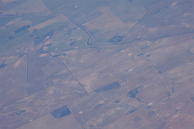 Flying back and forth over the country, I was continually struck by the patchwork of the properties and just how few houses were on those patches.