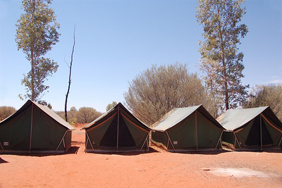 Our campsite at Yulara