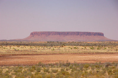 Mount Connor, where the Aborigines believe the ice demon comes from when he leaves ice crystals over the bush during winter.