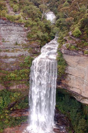 It had rained so much the day we went to the Blue Mountains, something fairly unusual apparently, that the falls were in full spate. What a beautiful sight!